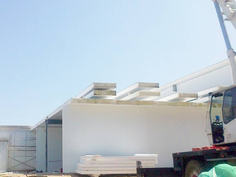 Work continues on what will be the most modern kitchen in Uruguay