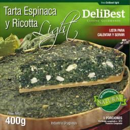Quiche / Tarta de Espinaca Light